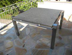 Metallbau Schweig - Edelstahltisch mit Granitplatte