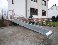 Metallbau Schweig - Behinderten Auffahrrampe