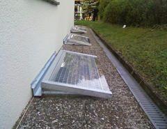 Metallbau Schweig - Lichtschachtabdeckung geschlossen